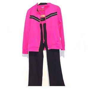 Kim Rogers jacket and sweat pants set